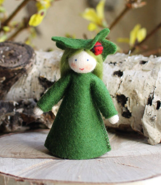 Clover Fairy Felted Waldorf Doll