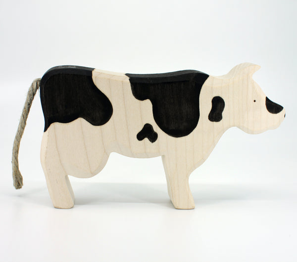 Black and White Cow by Brin d'Bois