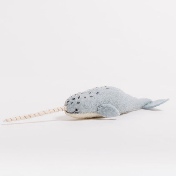 Mystical Narwhal Felted Wool Animal