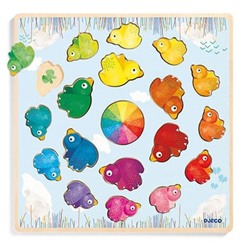 Birds Color Wheel 19 Piece Puzzle