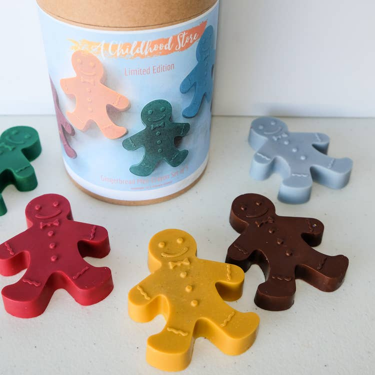 Gingerbread Men Eco-Friendly Crayons - Set of 6
