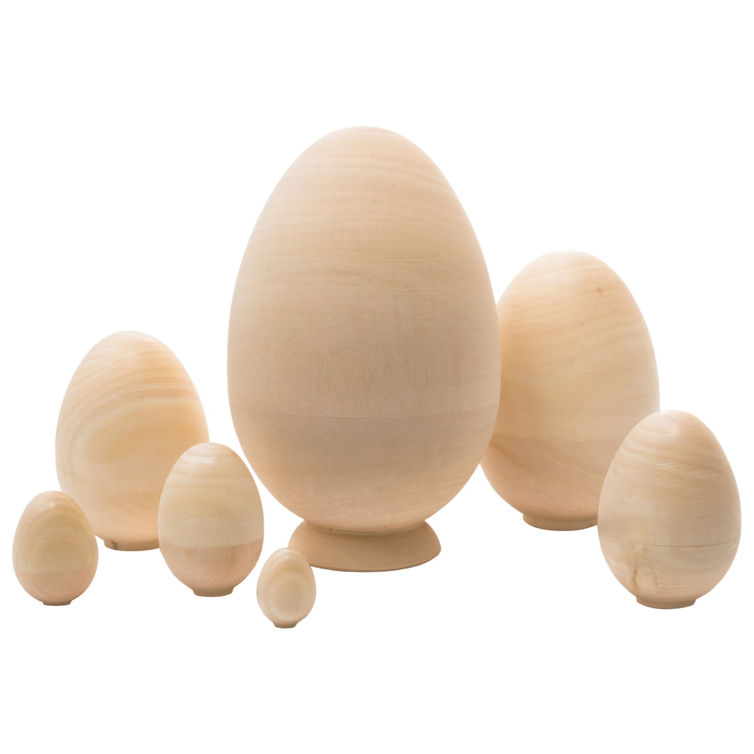 Wooden Nesting Egg Set of 7 pieces