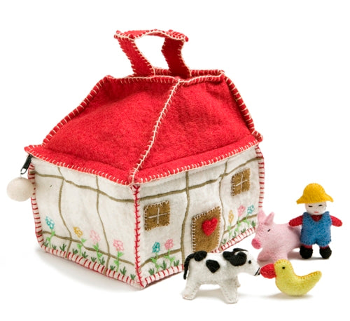 Felted Wool Take-Along Farmhouse Play Set