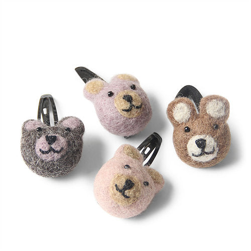 Cuddly Bear Hair Clips