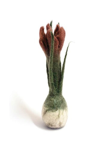 Felted Wool Spring Bulb - Dusty Rose
