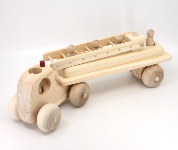 Wooden Toy Fire Engine Truck