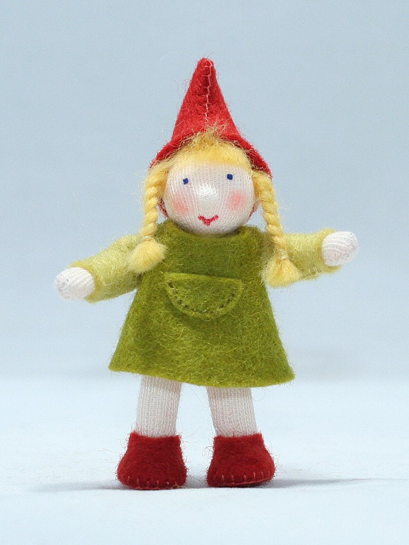 Woodland Gnome Girl Felted Waldorf Doll