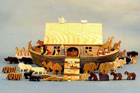 Heirloom Wood Noah's Ark and Figures