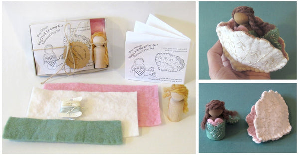 Wee Felt Mermaid and Clamshell Bed Complete Sewing Kit