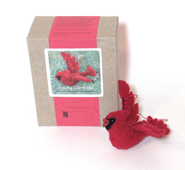 Wee Felt Cardinal Complete Sewing Kit