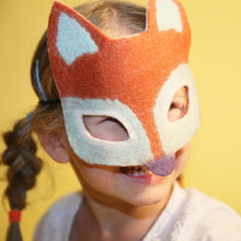Load image into Gallery viewer, Copper the Fox Handfelted Mask