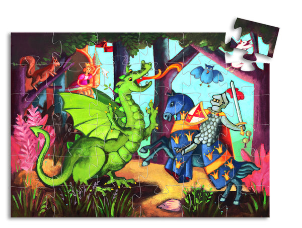 The Knight & the Dragon 36 Piece Puzzle