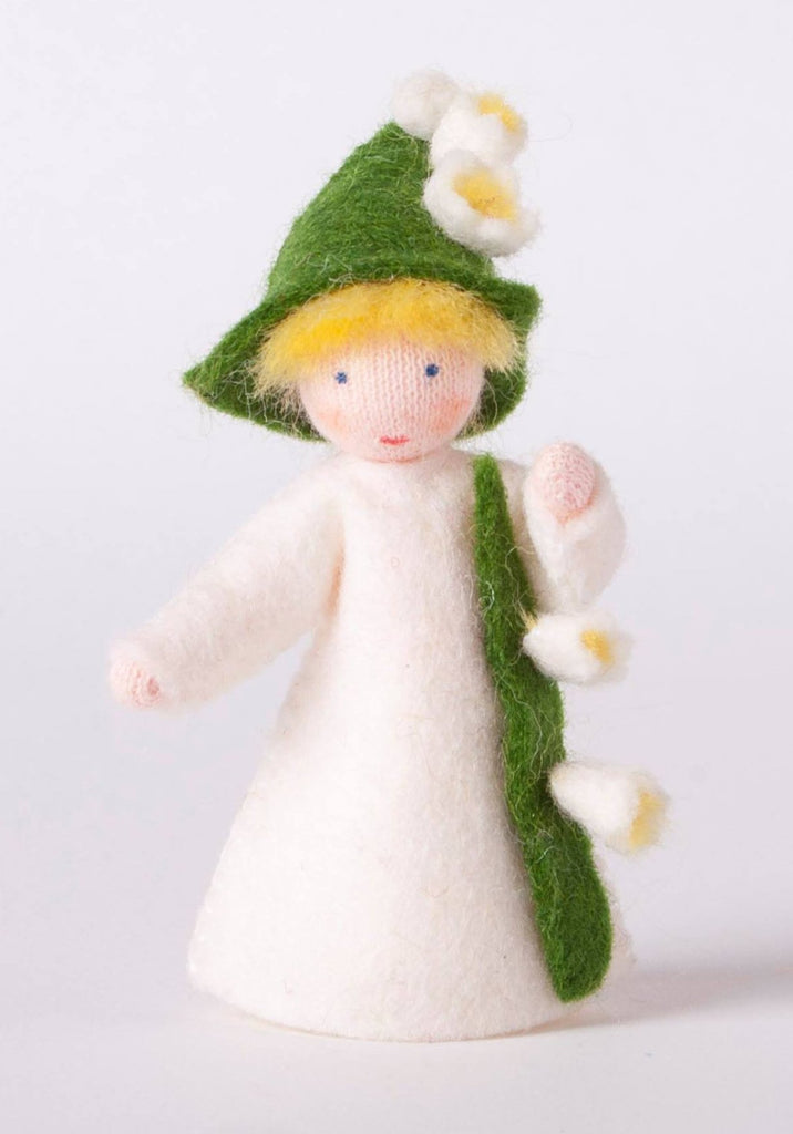 Lily of the Valley Fairy Felted Waldorf Doll