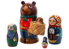 Load image into Gallery viewer, Masha and the Bear Nesting Dolls