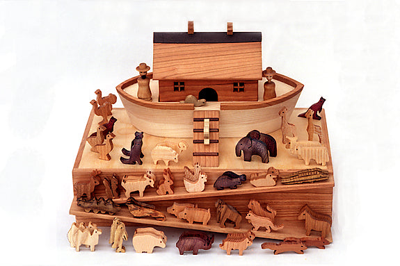 Miniature Noah's Ark and Figures