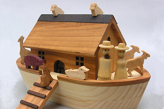 Miniature Noah's Ark with Figures