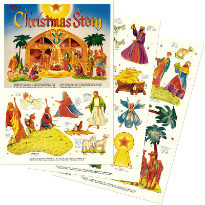 Paper Cut-Out Nativity Scene Kit