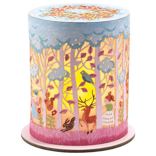 Miniature Paper Cut Night Light - Magic Forest