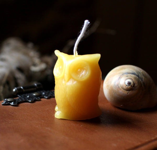 Beeswax Owl Candles - Set of 2