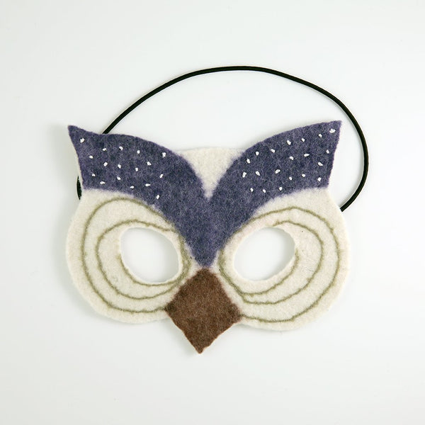 Constellation Owl Handfelted Mask