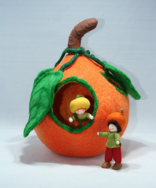 Felted Wool Pumpkin House