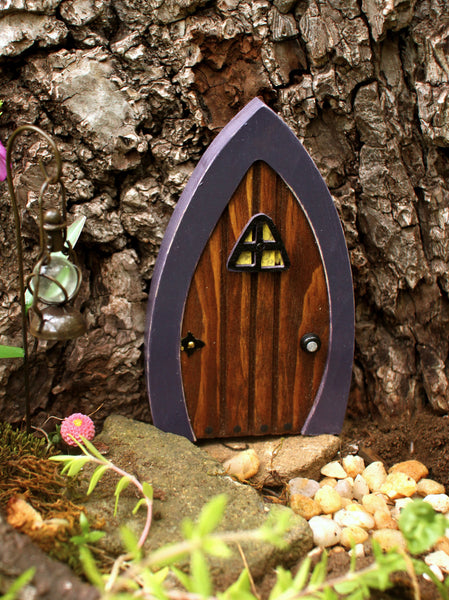 Lavender Cottage Wooden Fairy Door