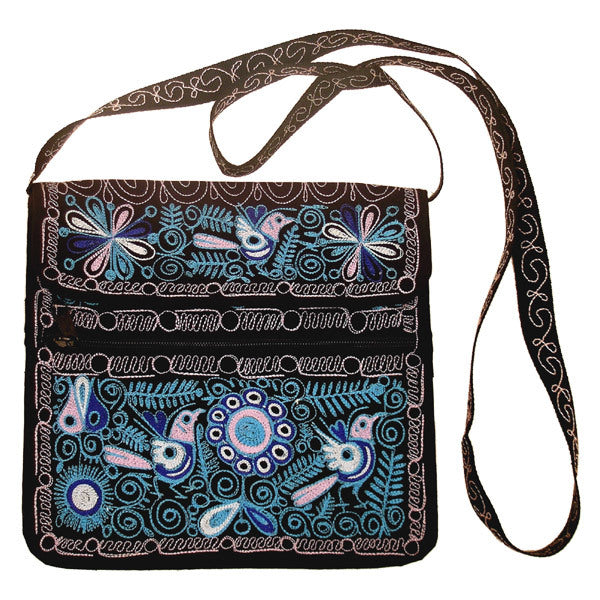 Embroidered Square Purse