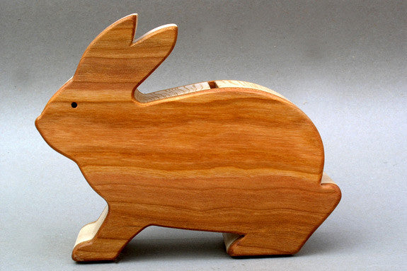 Wooden Bunny Bank