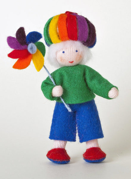 Rainbow Child Felted Waldorf Doll