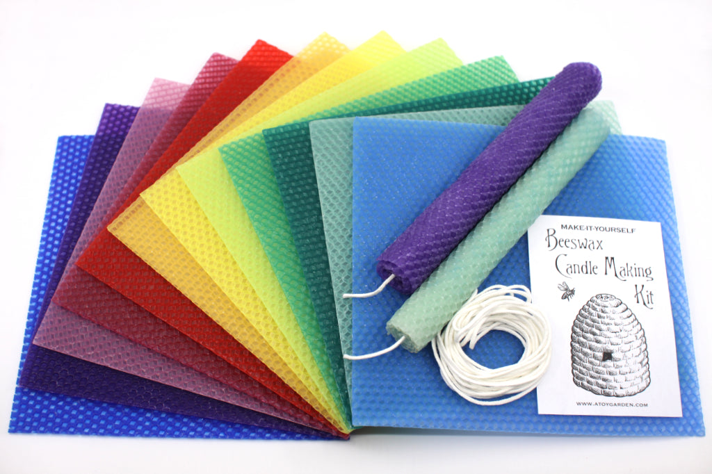 Rainbow Colors Beeswax Candle Making Kit