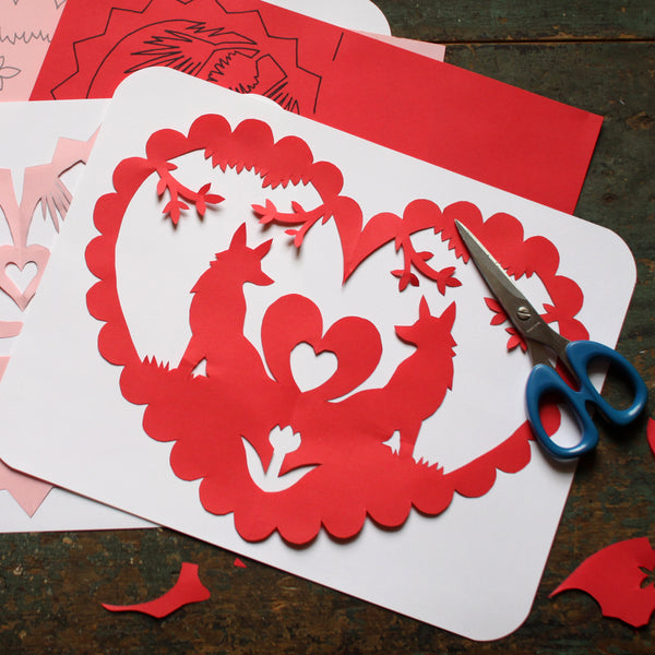 Scissor Cut Valentines Kit