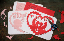 Load image into Gallery viewer, Scissor Cut Valentines Kit