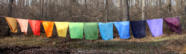 "Colorful Hand-Dyed Play Silks - Large (35"") or Small (21"")"