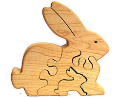 Rabbit & Bunny Wooden Puzzle
