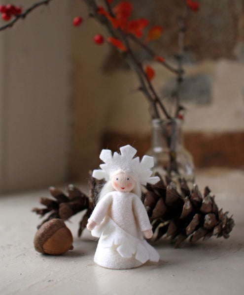 Snowflake Fairy Felted Waldorf Doll