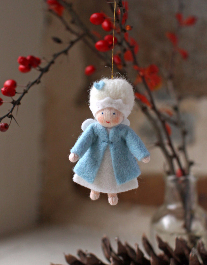 Snow Queen Fairy Felted Waldorf Doll