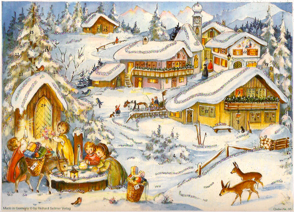 Christmas Eve Village Advent Calendar
