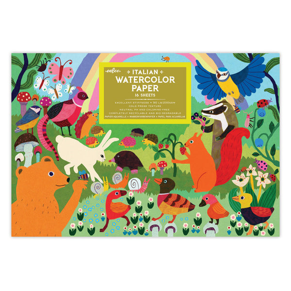 Woodland Rainbow Watercolor Pad