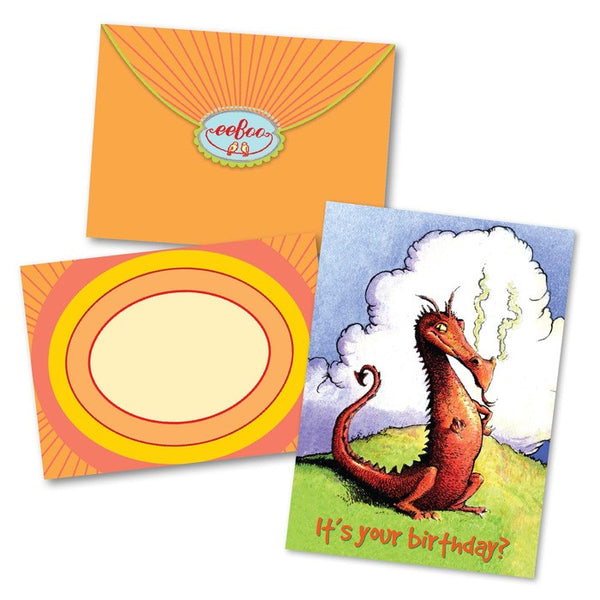 Sassy Dragon Birthday Card