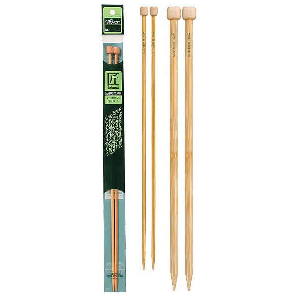 Clover Takumi Bamboo Knitting Needles, 9-inch