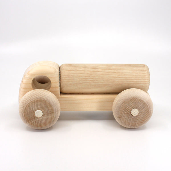 Wooden Toy Tank Truck