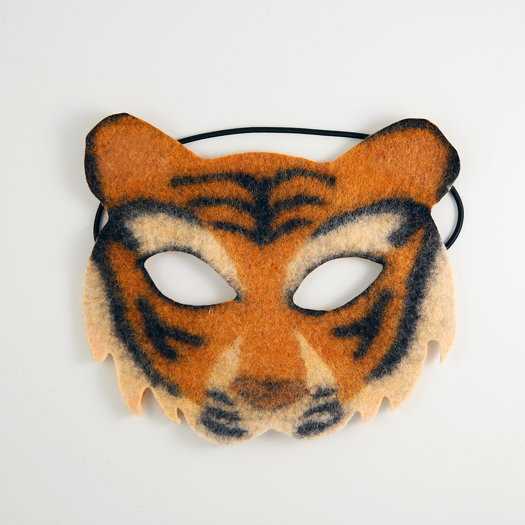 Lao Hu Tiger Handfelted Mask