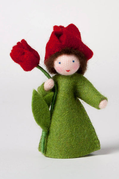 Tulip Fairy Felted Waldorf Doll