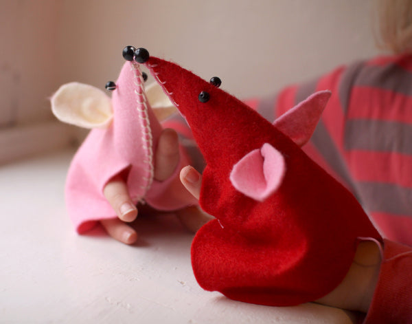 Valentine Mouse Hand Puppet Kit