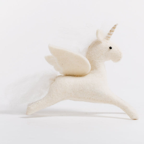 Enchanted Days Unicorn Felted Wool Doll