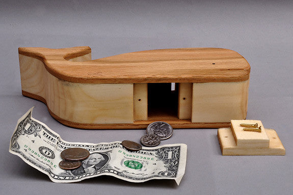 Wooden Whale Bank
