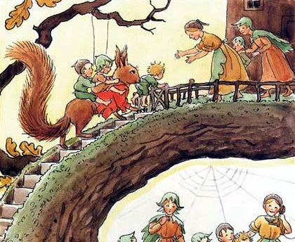 <i>Woody, Hazel, and Little Pip</i> by Elsa Beskow