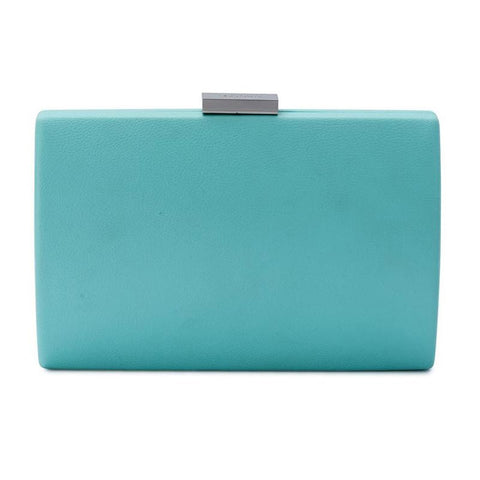 Adley Oversized Pod handbag clutch light blue front view