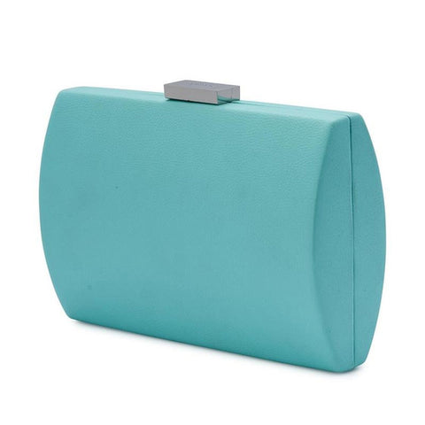 Adley Oversized Pod handbag clutch light blue side view