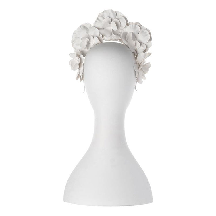 Flora Floral Fascinator White back view